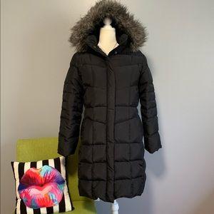 Calvin Klein Black Long Down Puffer Jacket B5